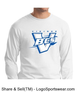 Hanes Beefy L/S T-Shirt White Design Zoom