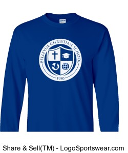 100% Heavyweight Ultra Cotton Adult L/S T-shirt Design Zoom